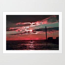 Pink Skies Art Print