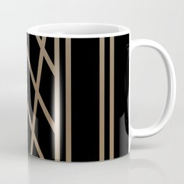 BLACK&GOLD 2 (abstract artdeco geometric) Coffee Mug