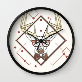 Nerd deer Wall Clock