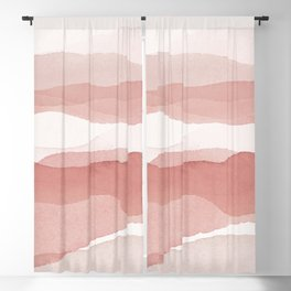 Pink Mountains Blackout Curtain