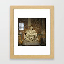Michelangelo's Pieta in St. Peter's Basilica                                              Framed Art Print