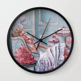 Marie Antoinette Eats Cake Wall Clock