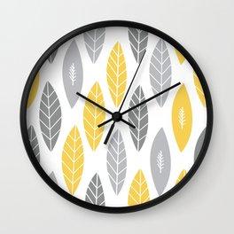 Primrose Leaves Wall Clock
