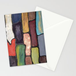 Colorful Abstract art turquoise, red green mix with gold dust Stationery Cards