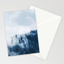 CLOUDS - WHITE - FOG - TREES - FOREST - LANDSCAPE - NATURE - TIMBER - WOODS - PHOTOGRAPHY Stationery Cards