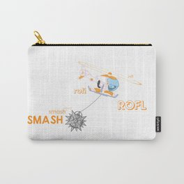 Roflcopter Goes Smash Smash Smash Carry-All Pouch