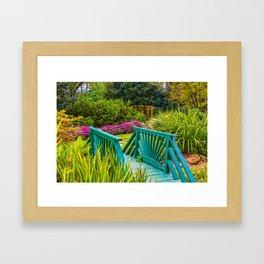 Garden Bridge Framed Art Print