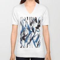 flight V-neck T-shirts featuring FLIGHT by Teresa Chipperfield Studios