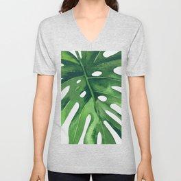 Monstera Leaf Unisex V-Neck
