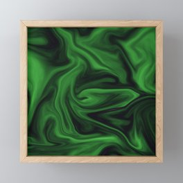 Black and green marble pattern Framed Mini Art Print