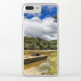 Pontoon on the Barron River Clear iPhone Case