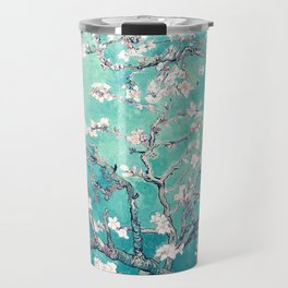 Vincent Van Gogh Almond Blossoms Turquoise Travel Mug
