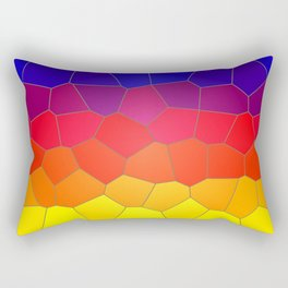 Coloured Mosaic Rectangular Pillow