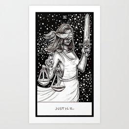 Justice Tarot Art Print