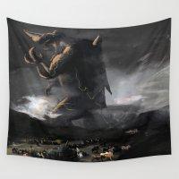 kaiju Wall Tapestries featuring El Kaiju by SkullsNThings