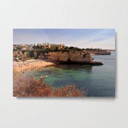 Praia de Nossa Senhora da Rocha The Algarve Portugal Metal Print