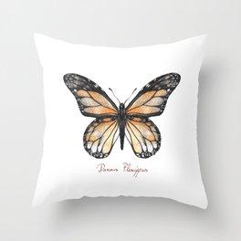 Danaus plexippus Throw Pillow