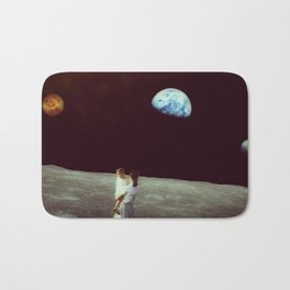 Venus-Pluto-Earth Conjunction observed from the Moon Bath Mat