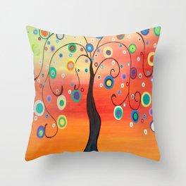 Fiesta Tree Throw Pillow