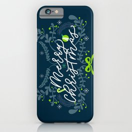 MERRY CHRISTMAS BLUE iPhone Case