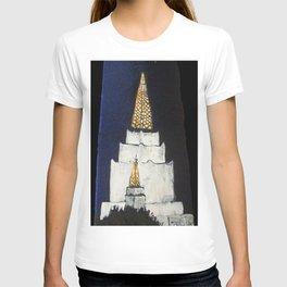 Oakland LDS Temple Tie T-shirt