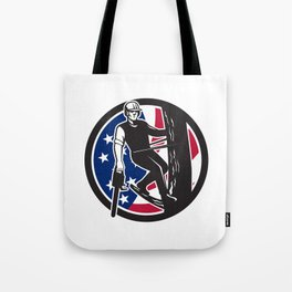 American Tree Surgeon USA Flag Icon Tote Bag