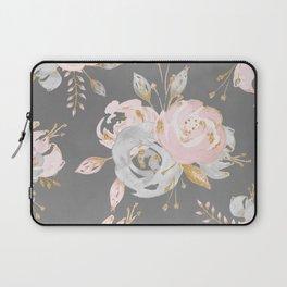 Night Rose Garden Gray Laptop Sleeve