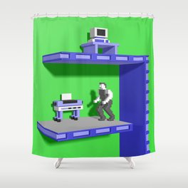 Inside Impossible Mission Shower Curtain