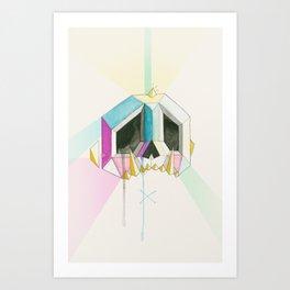 Sugarcube skull Art Print