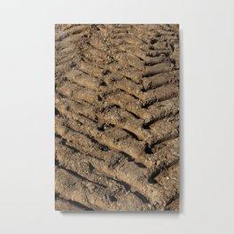 plowed soil Metal Print