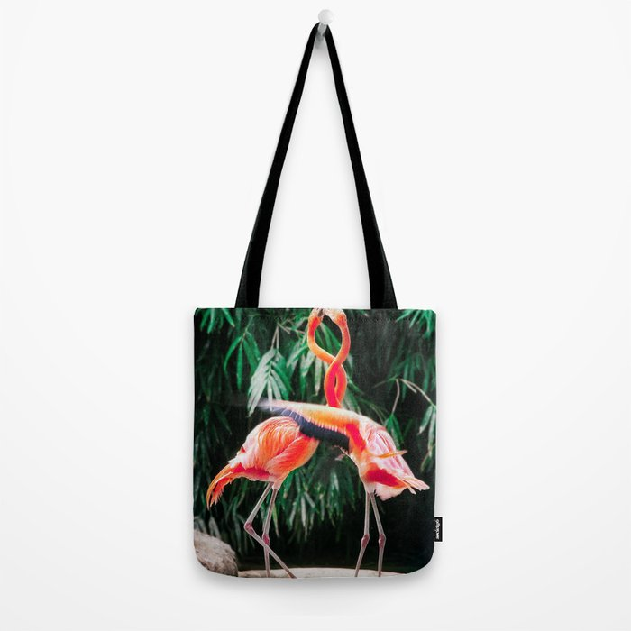 Flamingo Dance (Color) Tote Bag