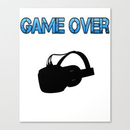 VR Game Over Blue Canvas Print