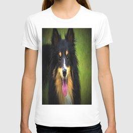 Tri colored Shetland Sheepdog Sheltie T-shirt