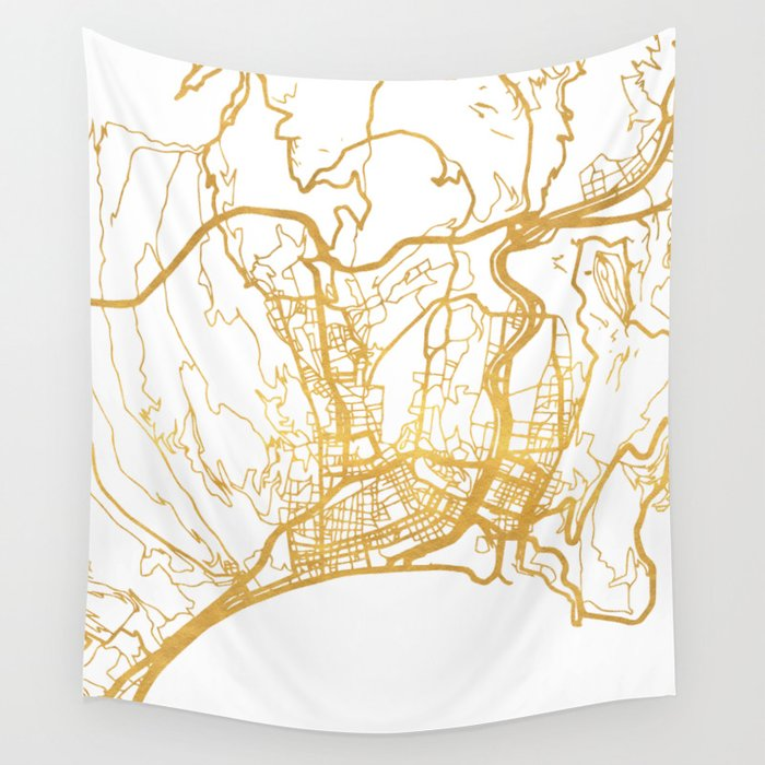 Nice France City Street Map Art Wall Tapestry By Deificusart Society6