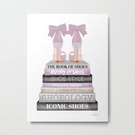 Fashion books, Lilac, Purple, wall art, Fashion illustration, Fashion, Fashion wall art, Metal Print