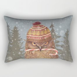 Christmas Owl  Rectangular Pillow