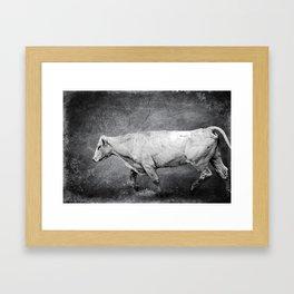 Cattle Rush Framed Art Print