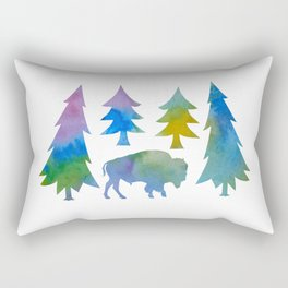 bison / buffalo Rectangular Pillow
