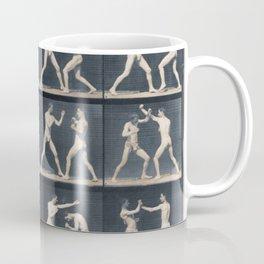 Time Lapse Motion Study Men Boxing Boxer Boxers Fighting Ring Coffee Mug