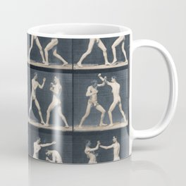 Time Lapse Motion Study Men Boxing Boxer Boxers Fighting Ring Coffee Mug