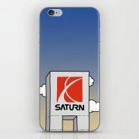 saturn iPhone & iPod Skins featuring Saturn by Josh LaFayette