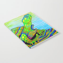 Colorful Psychedelic Neon Painted Turtle Rainbow Turtle Notebook