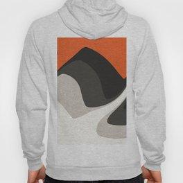 Abstract orange shapes Hoody