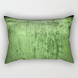 Old green window at night Rectangular Pillow