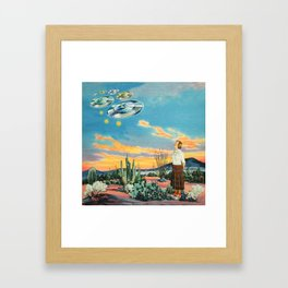 They were here before us Framed Art Print