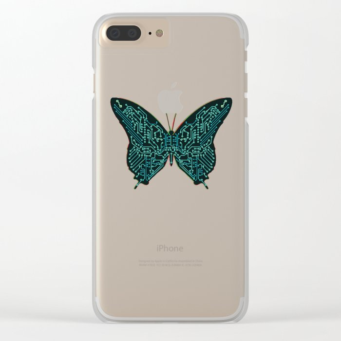 Mechanical Butterfly Clear iPhone Case