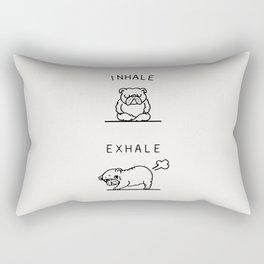 Inhale Exhale English Bulldog Rectangular Pillow