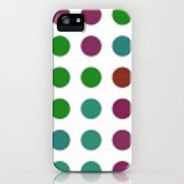 Crazy Dots iPhone Case