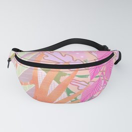 Modern Jungle Plants - Pink Green Purple Fanny Pack