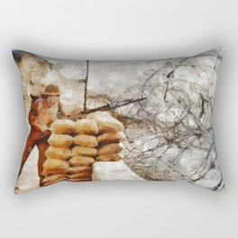 Stand Watch, World War Two Rectangular Pillow